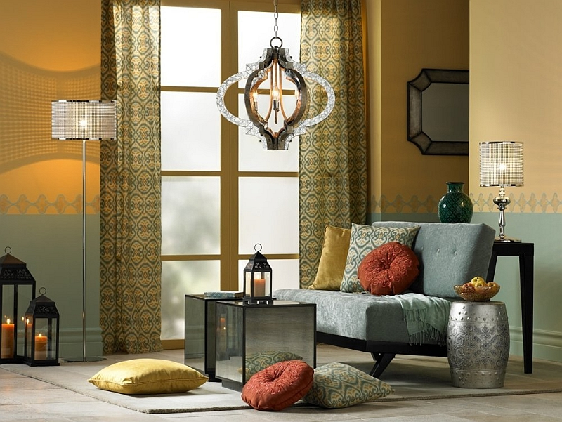 Lighting fixtures play a key role in shaping Moroccan styled spaces