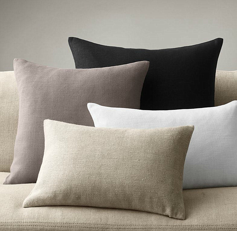 Linen throw pillows