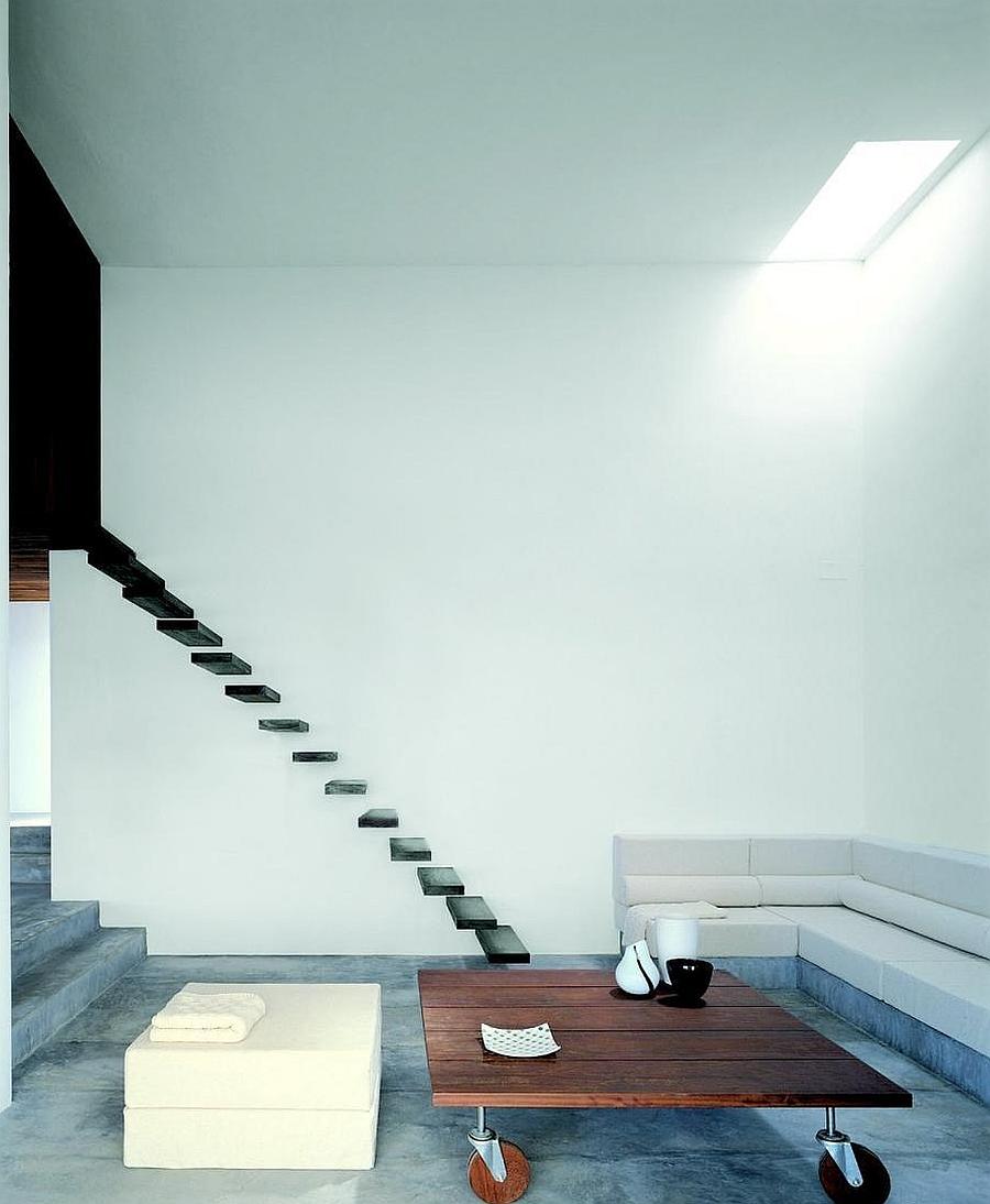 Living area of the beautiful Ibiza villa with simple decor