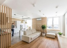 Space-Saving Solutions Turn Small Loft Apartment Into A Trendy, Functional Home