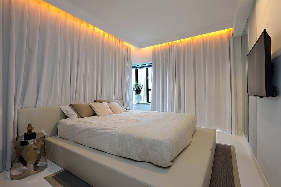 Exceptional View In Gallery Long, White Drapes Turn The Bedroom Into A Serene Sanctuary Gallery