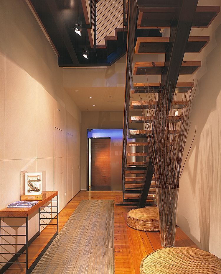 Lovely entranceway combines a multitude of textures