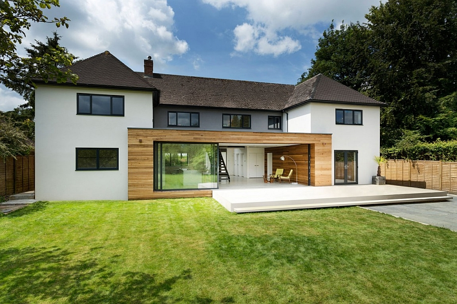 Lovely family house in Winchester England gets a trendy modern update Classic English Home Gets A Grand Contemporary Update In Sparkling Style
