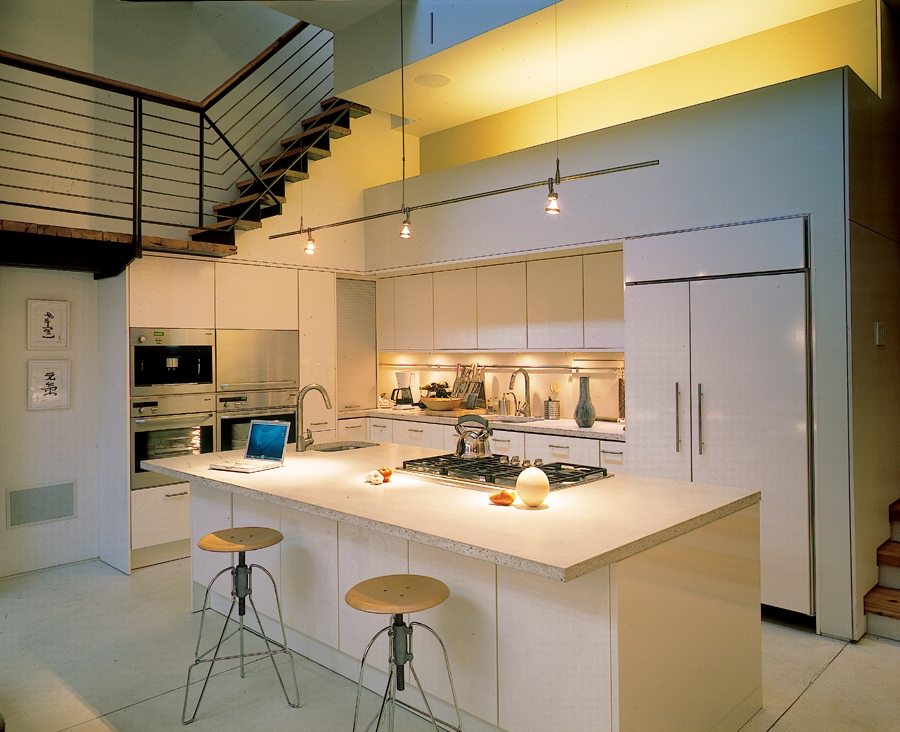 Lovely modern kitchen in white with a simple, elegant appeal