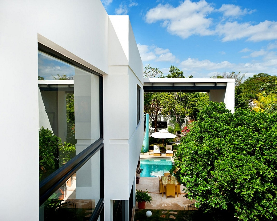 Lovely private backyard of Casa CP78 in Merida, Yucatan, Mexico