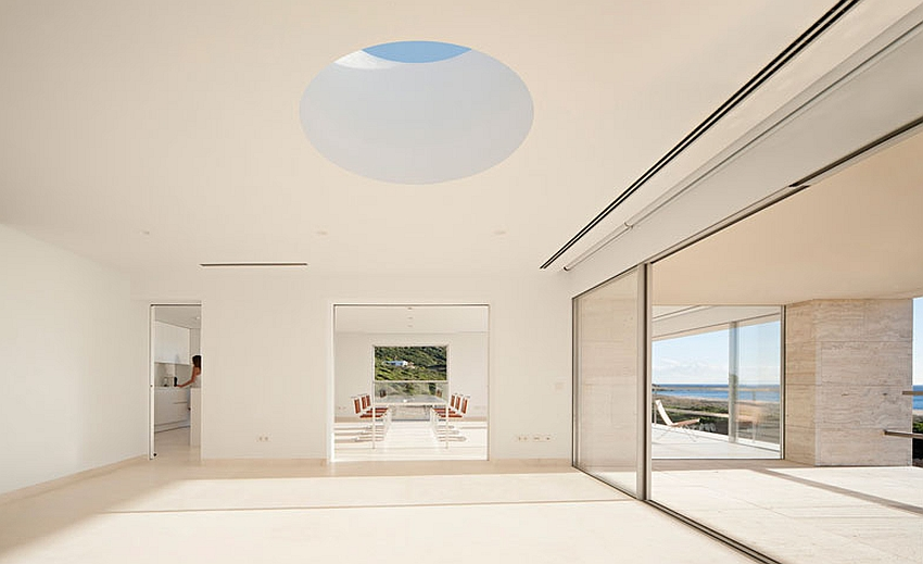 Lovely skylights bring in ample ventilation