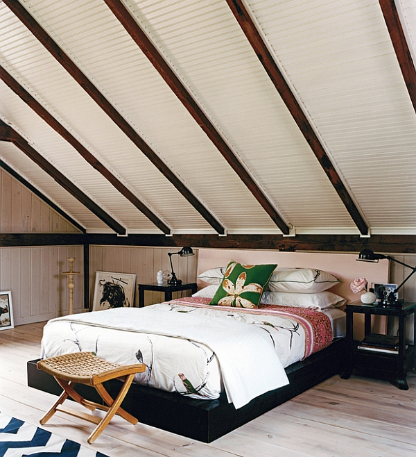 How to decorate rooms with slanted ceiling design ideas for Room design roof