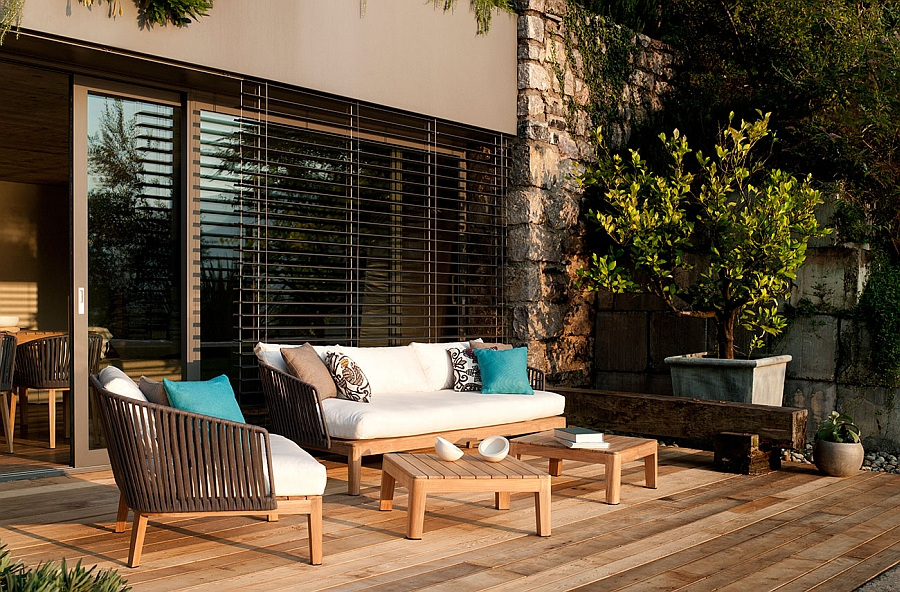 MOOD Collection of Club Chairs and Sofas shape the trendy deck space