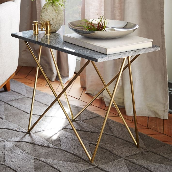 Marble and brass side table The Top Fall Trends For Interior Design