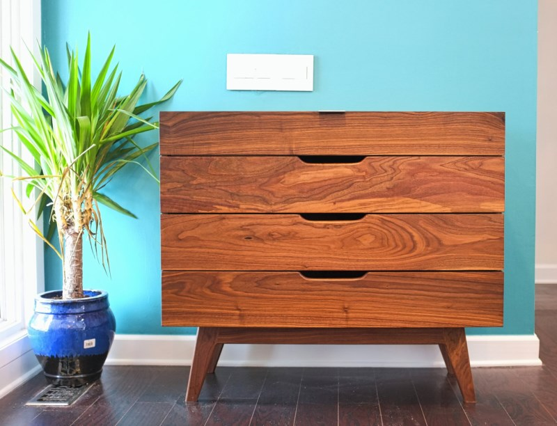 Midcentury Modern Walnut Dresser from Moderncre8ve
