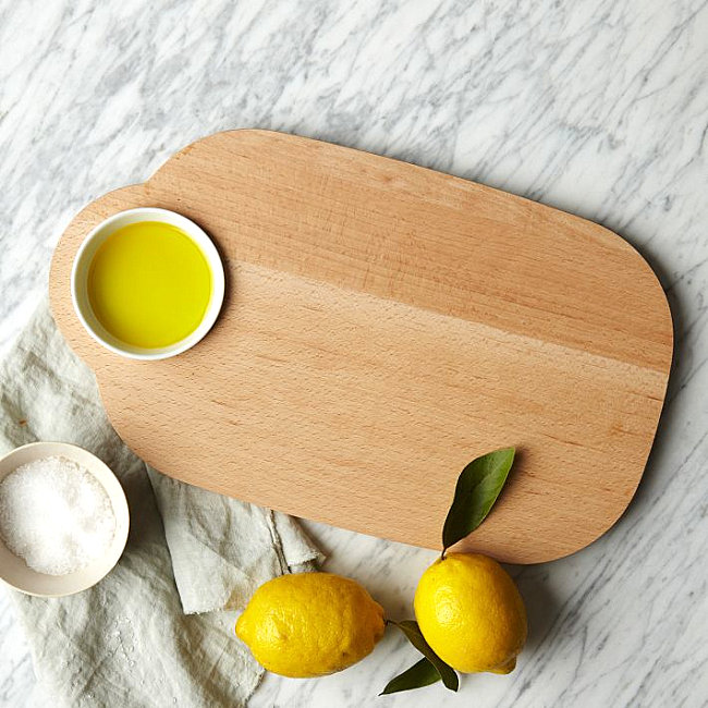 Modern serving board and dip bowl