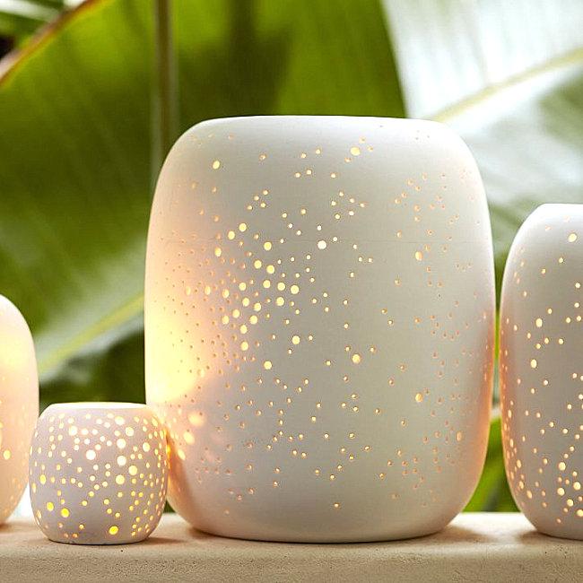 Modern porcelain votive