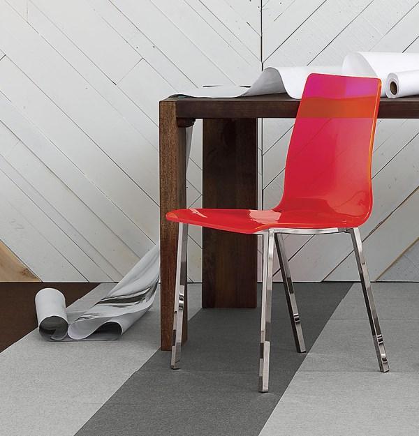 Neon acrylic chair