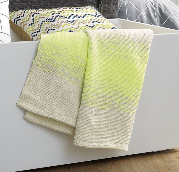 Neon ombre throw