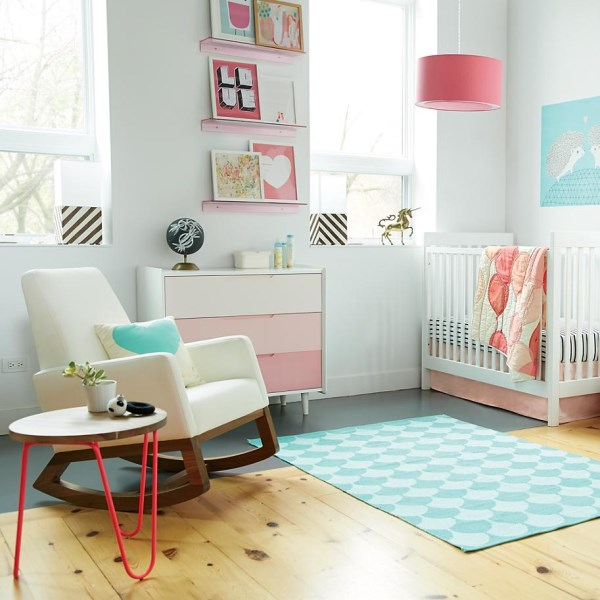 Modele Chambre Fille Adulte : Many modern nurseries feature a mix of textiles  Yes, a variety of