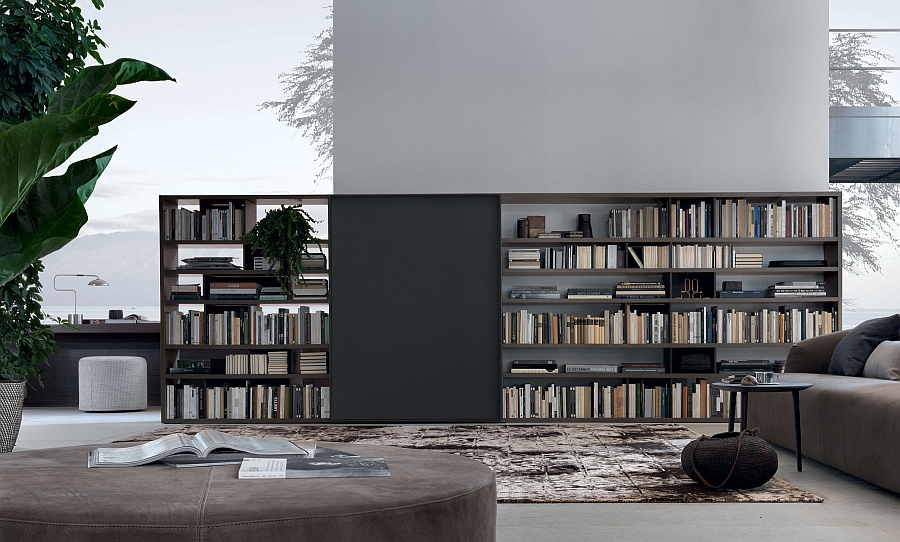 view in gallery open system wall unit from jesse for those who love to decorate with books