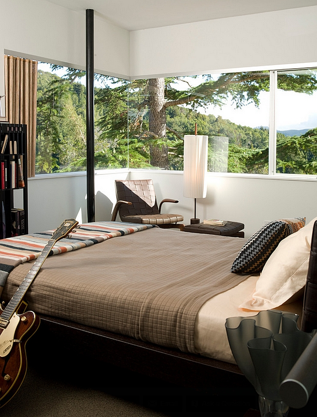 Open up the bedroom with smart windows to give it an airy ambiance