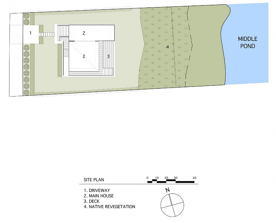 Overall design plan of the Far Pond House