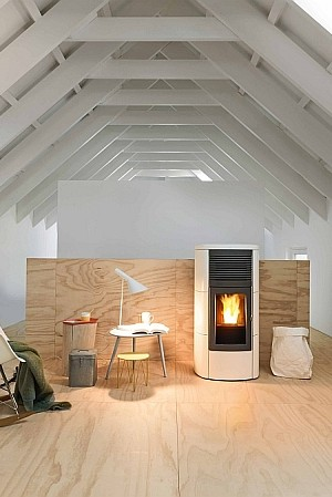 Pellet-burning stove Contemporary Design