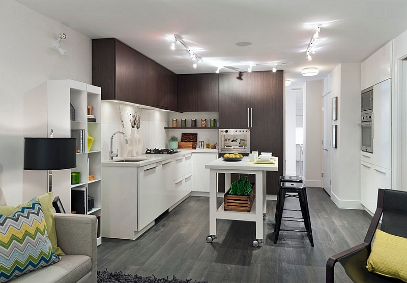 Perfect kitchen design for the urban bachelor pad!