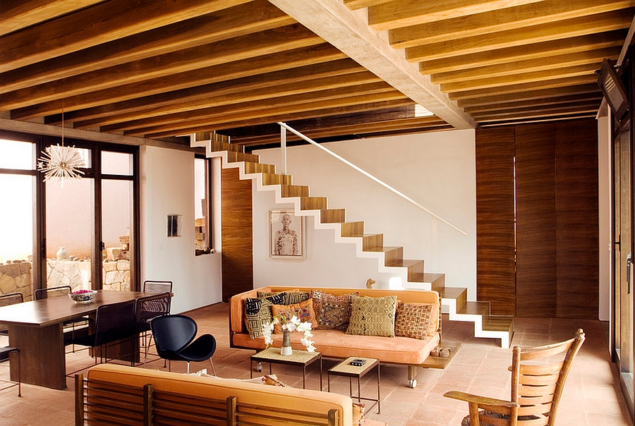 Pierre Paulin Orange Slice Chair in Black adds curves to the modern living room