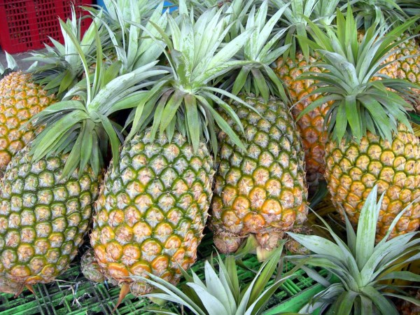 Pineapples make an ideal centerpiece