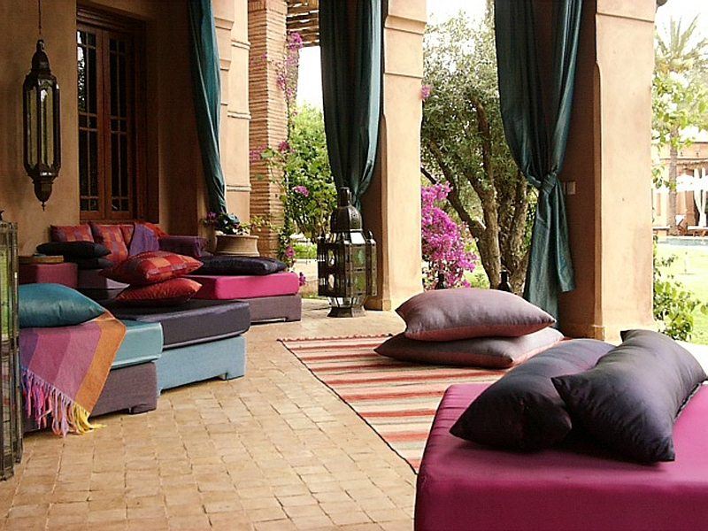 view in gallery plush decor ideas to shape your perfect moroccan inspired patio and courtyard