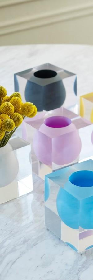 Lucite vases from Jonathan Adler