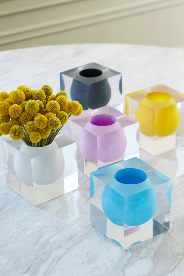 Pottery and Lucite vases from Jonathan Adler Summer Host And Hostess Gifts That Say Thank You In Style