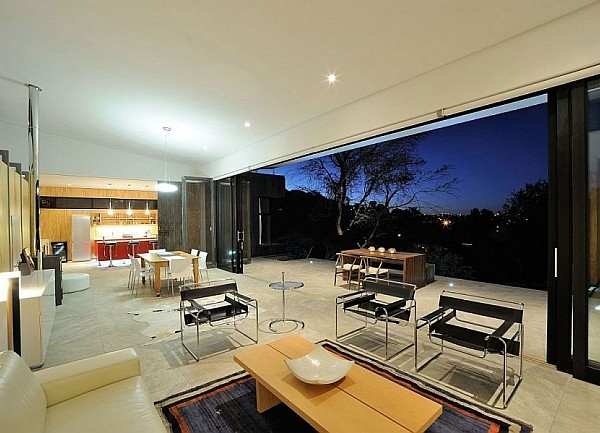 Landscape outside the house reflects the rich natural for Kitchen designs namibia