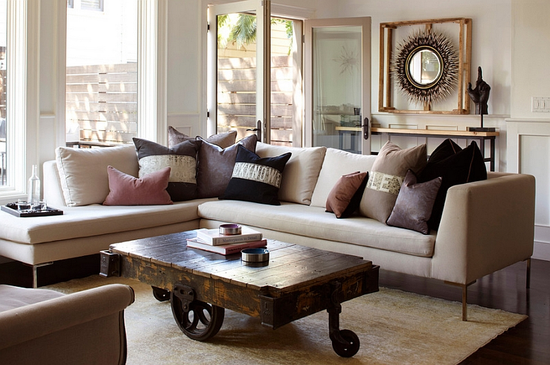 Repurposed coffee tables instantly garner attention in any living room