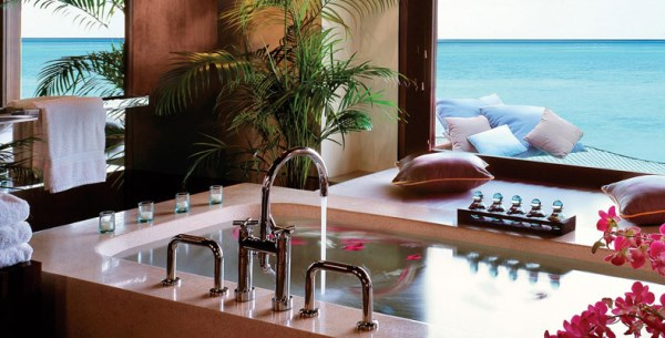 Resort bathroom at the OneOnly Reethi Rah 10 Tranquil Rooms With An Ocean View