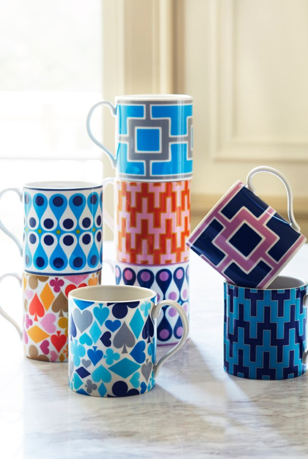 Retro-style mugs from Jonathan Adler