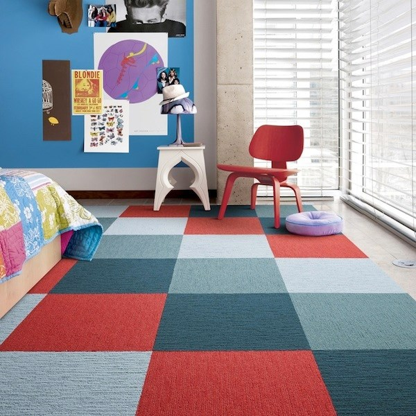 Flor carpet tiles bring modular flooring home for Carpet for kids rooms