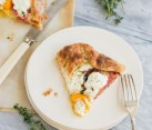 Rustic Heirloom Tomato Tart with Goat Cheese and Thyme