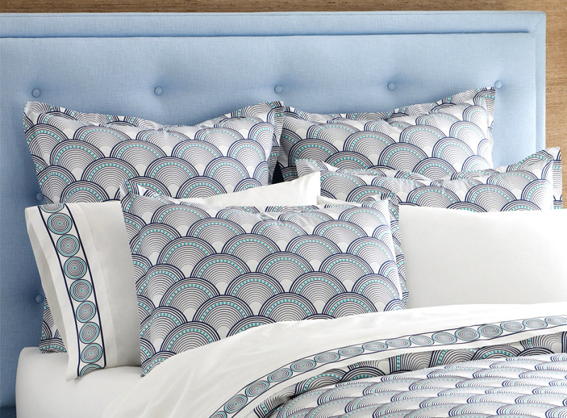 Scale patterned shams from Jonathan Adler