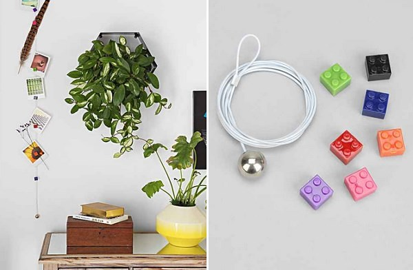 Set of magnetic photo clips