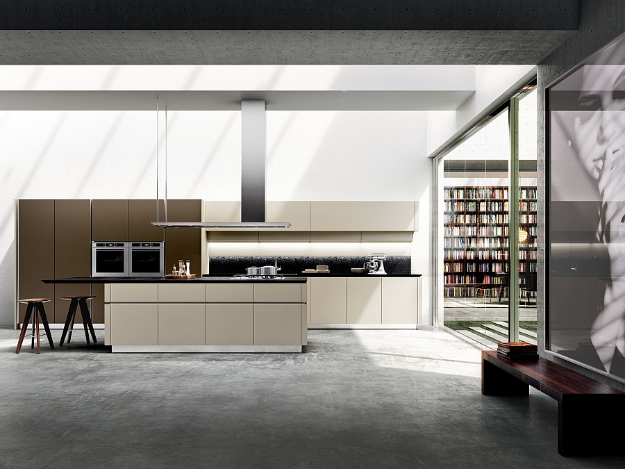 Simple and stylish design of Idea kitchen reinterprets the design of the 70s Iconic Italian Kitchen Reinvented With Sleek Simplicity And Rational Design