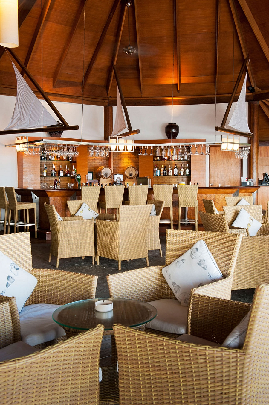 Sip on your favorite drink as you relax at the exquisite Kuramathi Island Resort