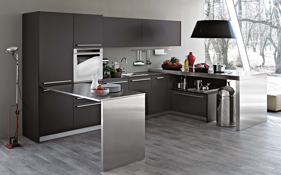Modern italian kitchens with modular cabinets colorful for Italian modern kitchen design