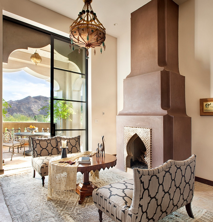 view in gallery smart mediterranean living room with elegant moroccan lighting and decor by gordon stein design