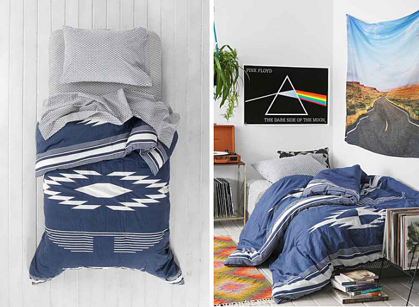 Southwestern style bedding The Design Lovers Guide to Dorm Decorating