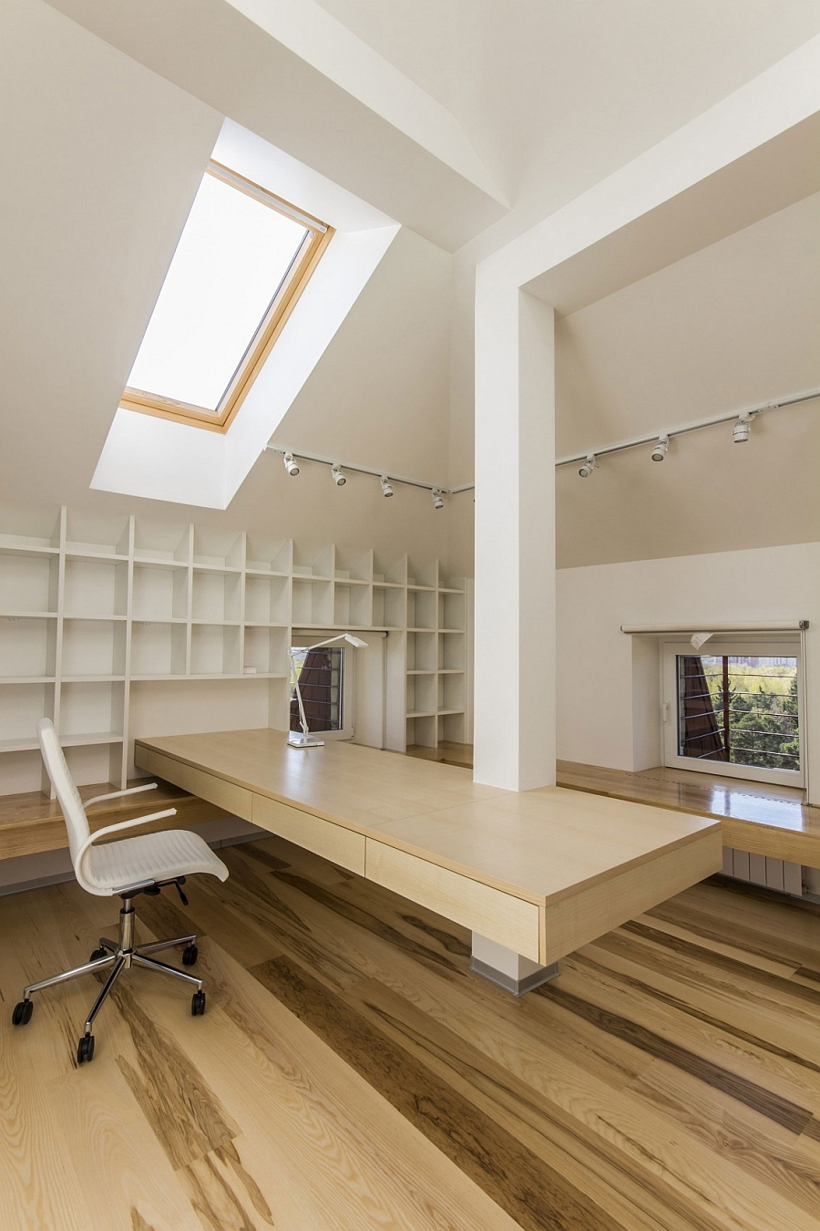 Space-conscious home office with ample storage space
