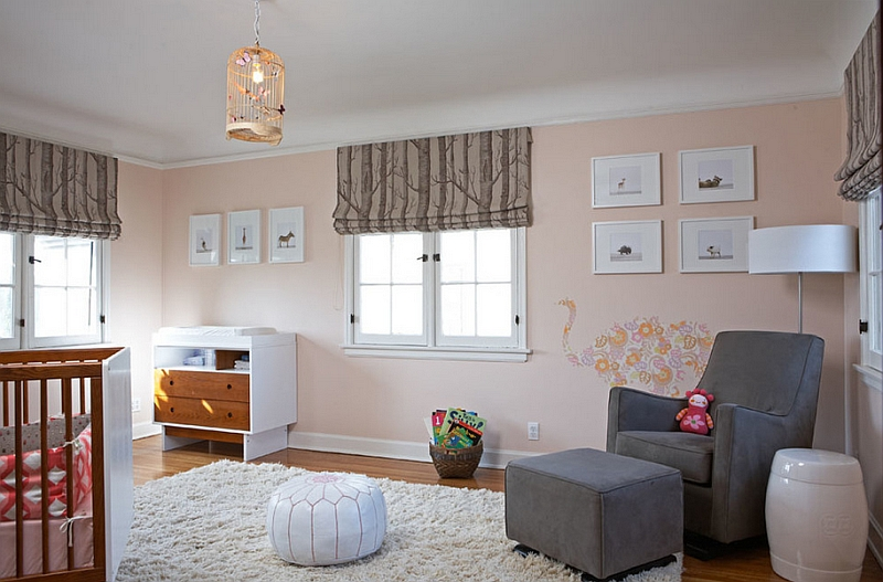 Space-saving poufs seem to be exceptionally popular in kids' rooms and nurseries