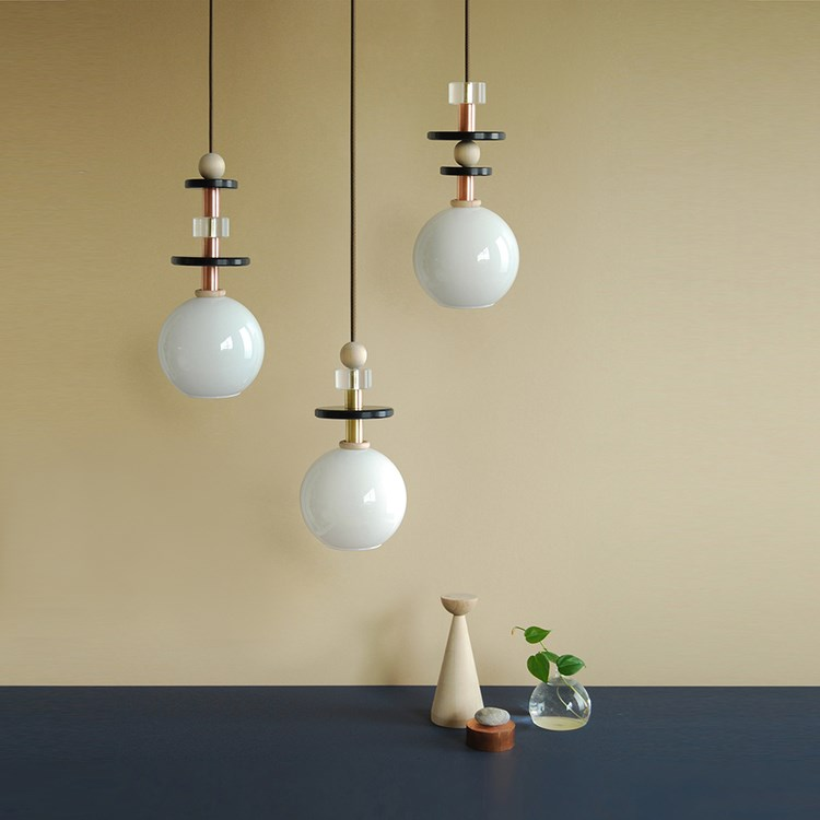 Spherical pendant lights from L & G Studio