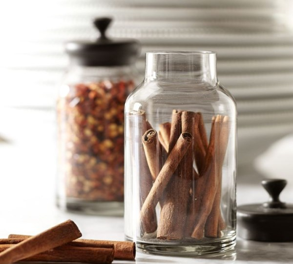 Spice jars from Pottery Barn