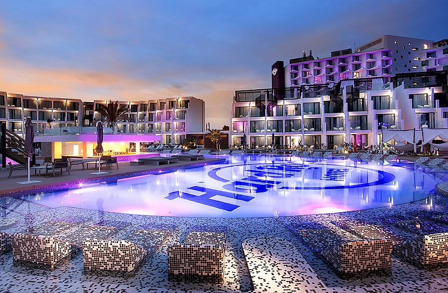 Splash Pool at the Hard Rock Hotel Ibiza Chic Tribù Decor Adds Sublime Class To Sizzling Hard Rock Hotel Ibiza