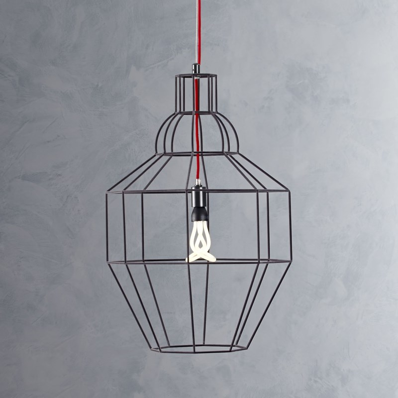 Steel pendant lamp