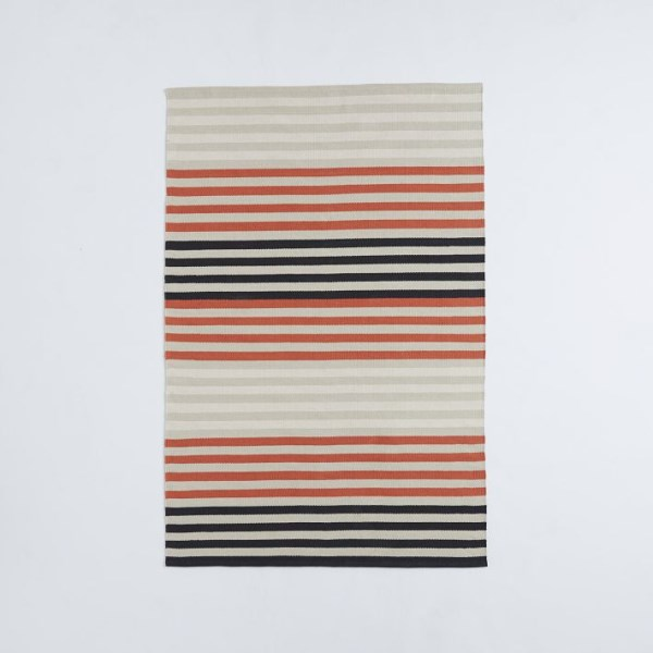 Striped dhurrie rug