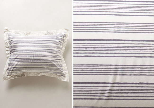 Striped sham with summer style